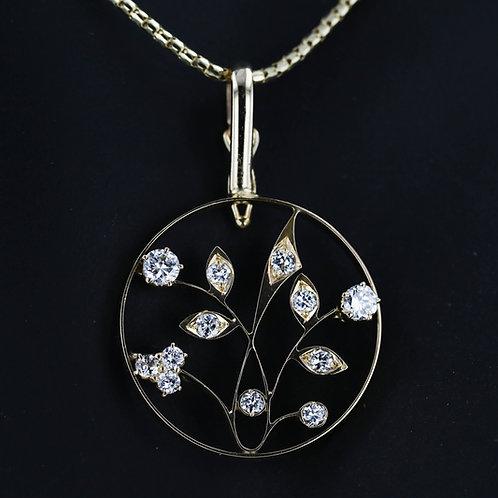 0.44 Carat Garden Diamond Pendant