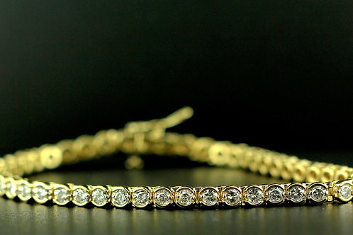 3 Carat Shared Bezel & Prong Diamond Tennis Bracelet