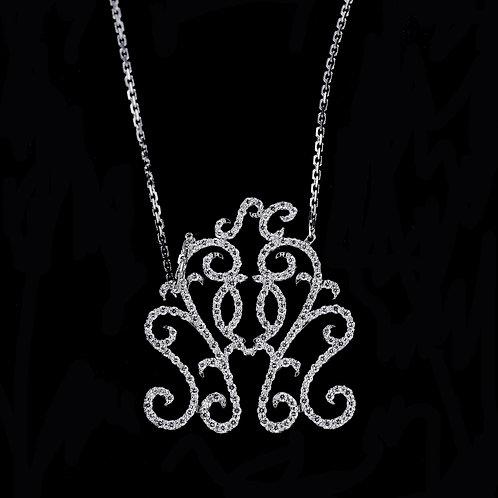 0.80 Carat Diamond Accented Vintage Pendant