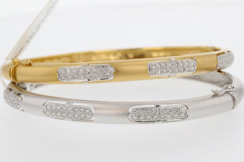 1 Carat Diamond Accented Gold Bangle Stack