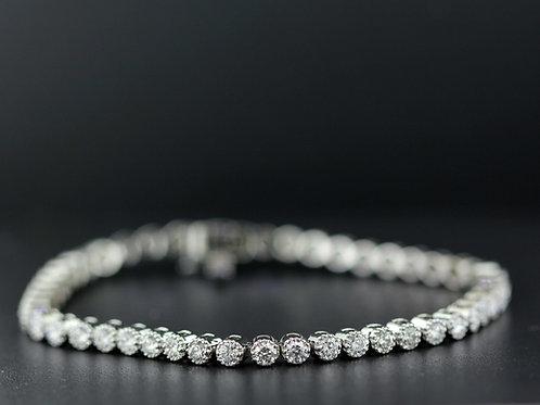 4 Carat Milgrain Bezel Set Diamond Tennis Bracelet