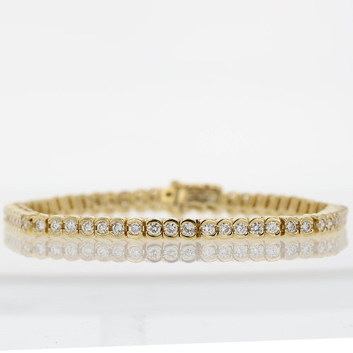 3 Carat Half Bezel Set Diamond Tennis Bracelet