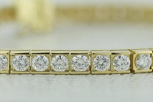 4 Carat Bar Set Diamond Tennis Bracelet