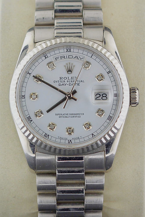 1999 White Gold Day Date Rolex