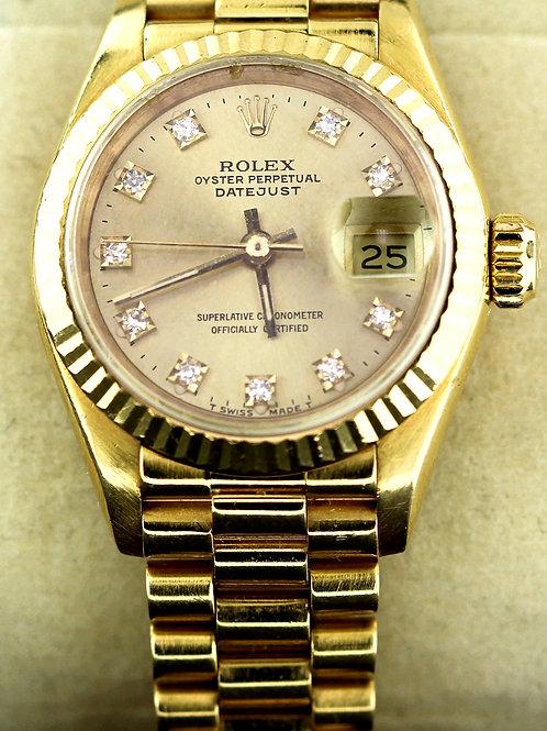 1990 Women's Yellow Gold Datejust Rolex