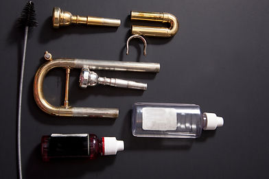 Lay flat trumpet valves, tubing and valv