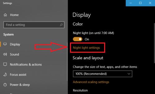 Ambino |  Bảo vệ mắt với chức năng ban đêm của windows 10 - cách bật night light mode | Ảnh 3