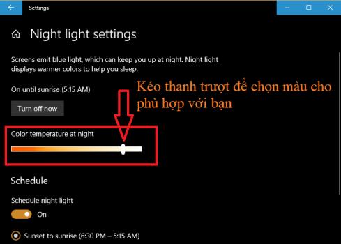 Ambino |  Bảo vệ mắt với chức năng ban đêm của windows 10 - cách bật night light mode | Ảnh 4