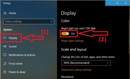Ambino |  Bảo vệ mắt với chức năng ban đêm của windows 10 - cách bật night light mode | Ảnh 2