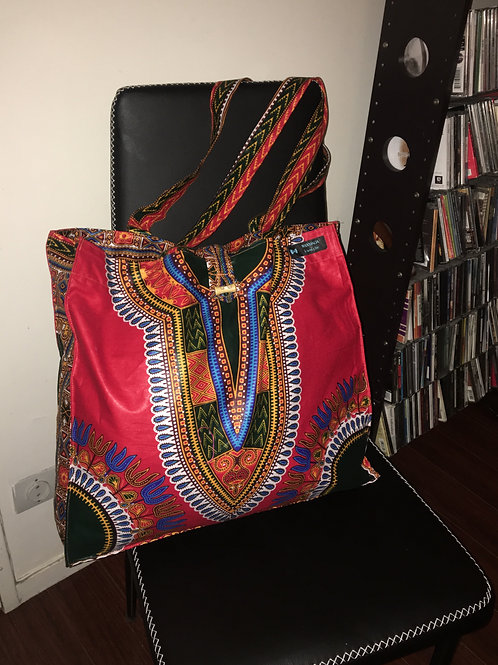 Maxi Tote bag en wax « DASHIKI »