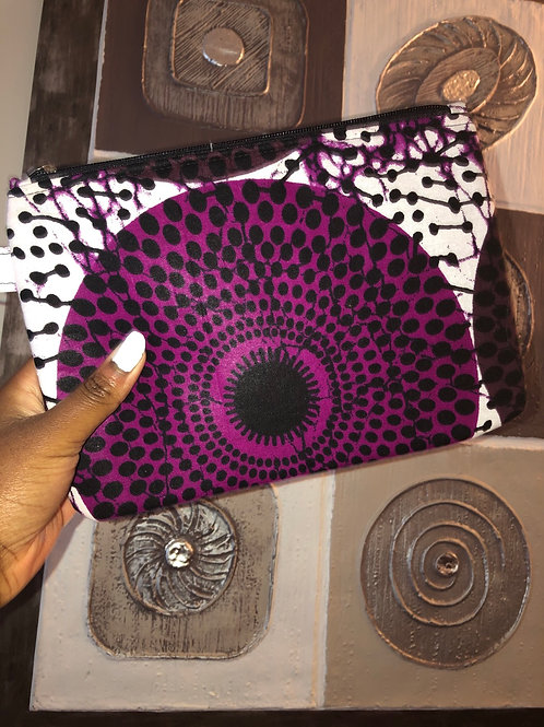 Maxi pochette en wax « PURPLE DISK »