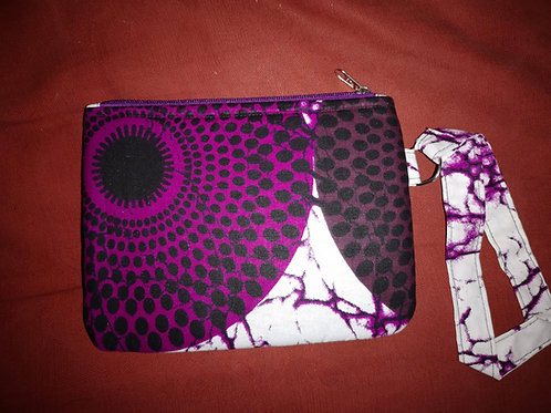 Pochette en wax « PURPLE DISK »