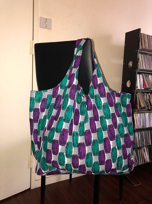 Sac pliable en wax « DAMIER »