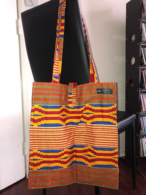 "Tote bag en wax ""ASHANTI"""