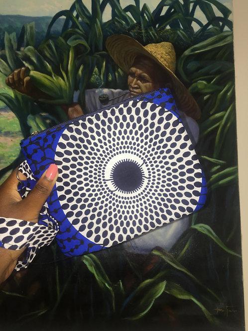Pochette en wax «BLUE DISK»