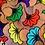 Thumbnail: Maxi Tote bag en wax « PINK FLOWERS »