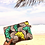 Thumbnail: Maxi pochette en wax «JONQUILLE»
