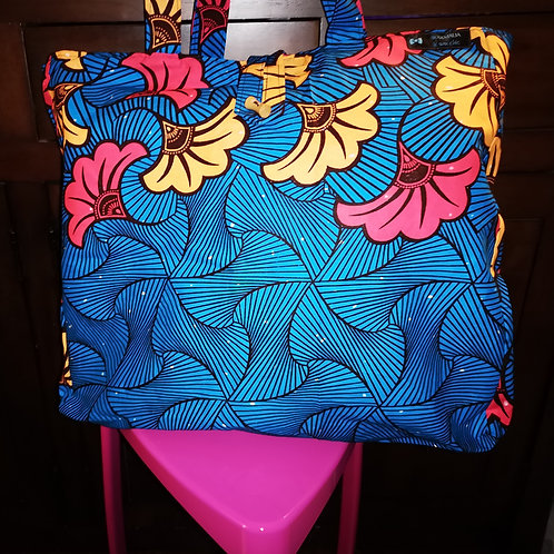 Maxi Tote bag en wax « FLOWERS »