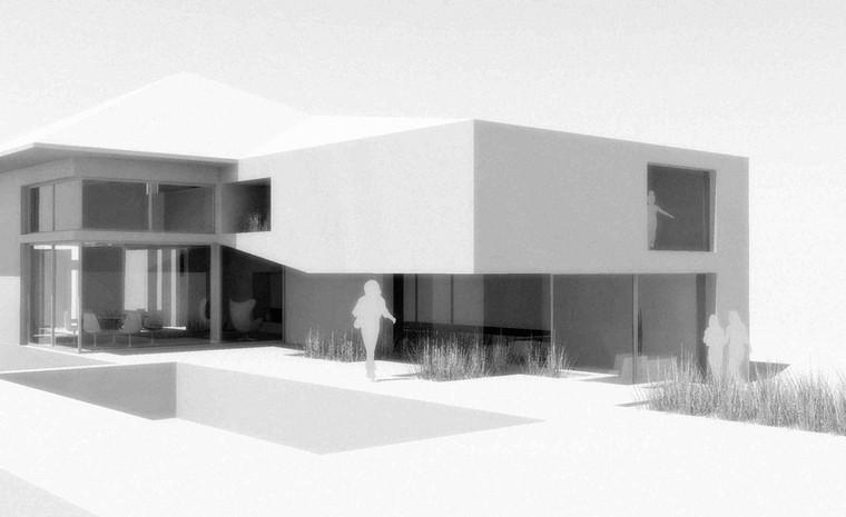 Maison contemporaine toiture plate à Rhode Saint Genèse