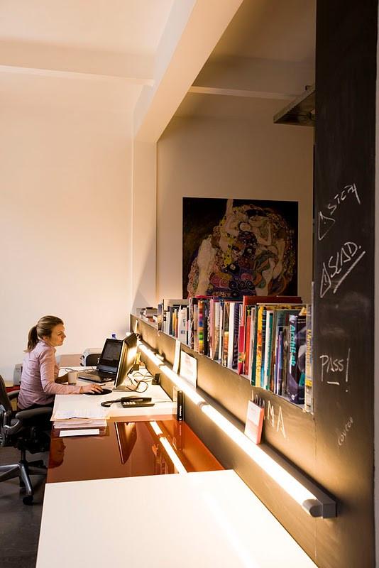Loft contemporain à Laeken: bureau