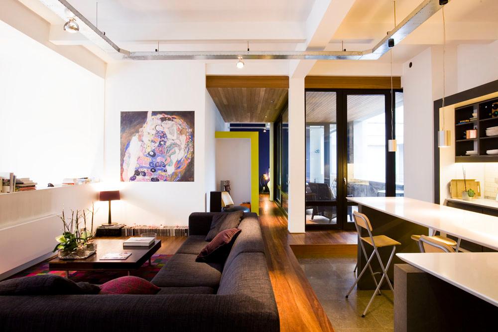 Loft à Laeken: rénovation intérieure contemporain, grand espace