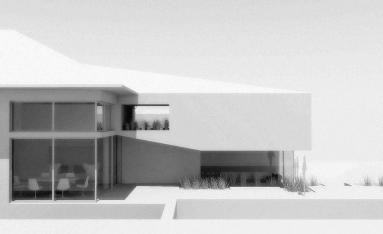 Maison contemporaine: toiture plate à Rhode Saint Genèse