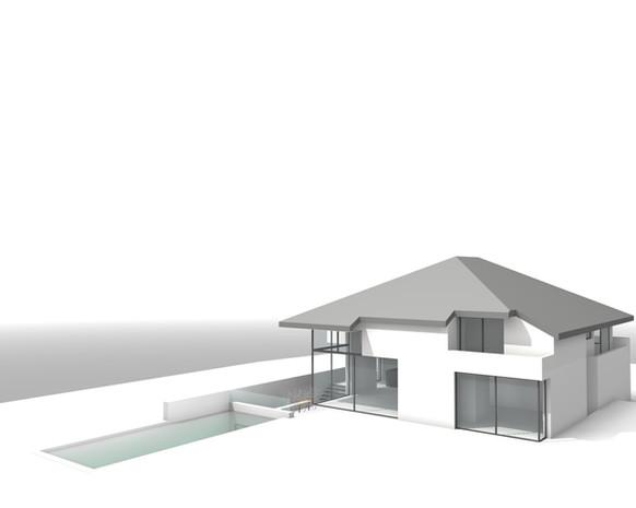 Maison contemporaine à Rhode Saint Genèse avec piscine
