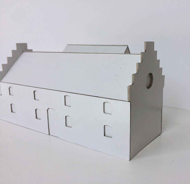 Extension contemporaine à Hannut: maquette