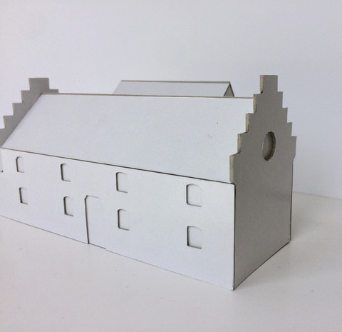 Extension contemporaine à Hannut: maquette