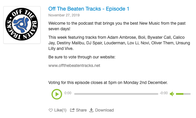 'Off The Beaten Tracks' podcast