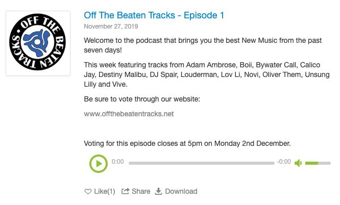 'Off The Beaten Tracks' podcast