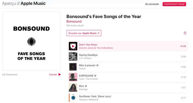 Bonsound Applemusic Playlist