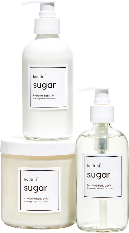 SUGAR Wash, Buff and Hydrate (set of all 3) w/free gift