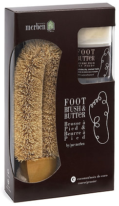 Foot Brush and Butter Kit - Coarse (Coconut)