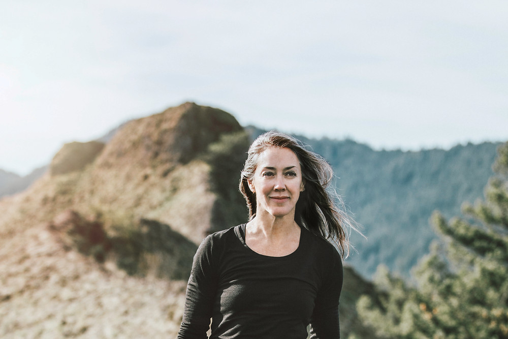 woman recovered from CFS, walking in nature
