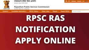 Rajasthan RPSC RAS Online Form 2021