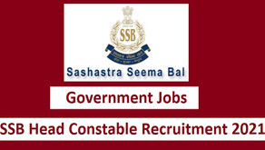 Sashastra Seema Bal SSB Head Constable (Min) Online Form 2021