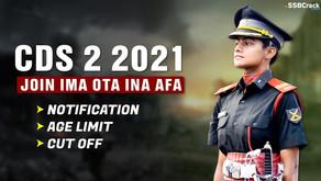 UPSC Combined Defense CDS II Recruitment 2021 Online Form