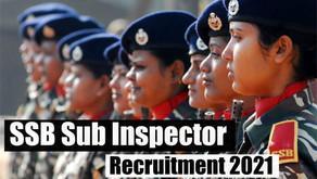 SSB Sub Inspector SI Recruitment 2021 Online Form