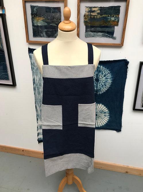 Individual designed Indigo apron