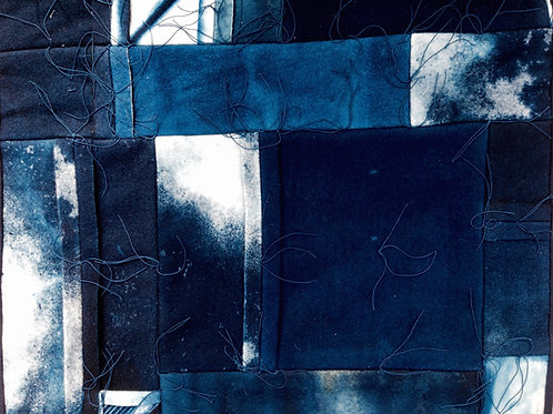 Indigo Wall Piece