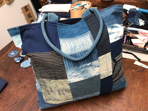 Boro Inspired Indigo Bag