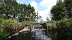 Weir (before removal), Trend River