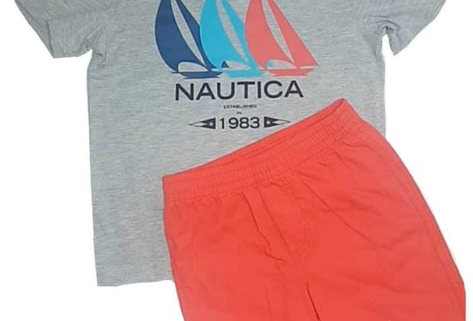 Boys Nautica Shirt & Pants Set