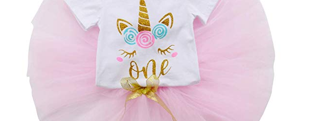 Birthday Unicorn 3 Piece Tutu Set
