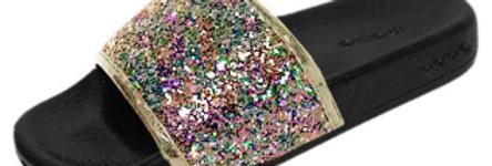 Bebe Glitter Slides
