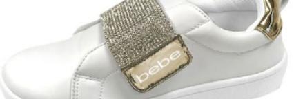 Bebe Girls low top Rhinestone Sneaker
