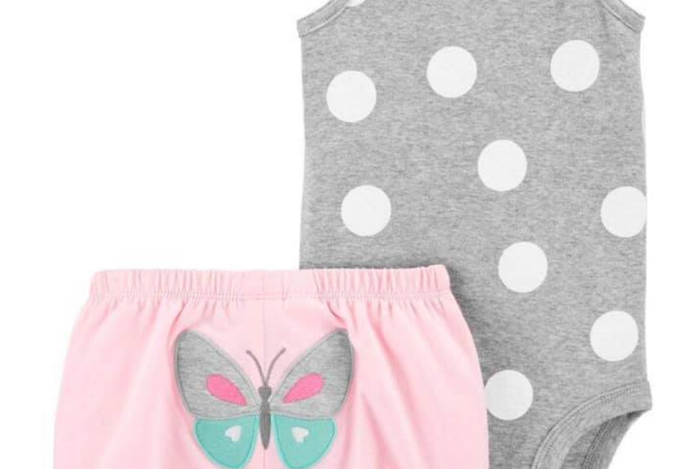 Butterfly Baby Carters Set