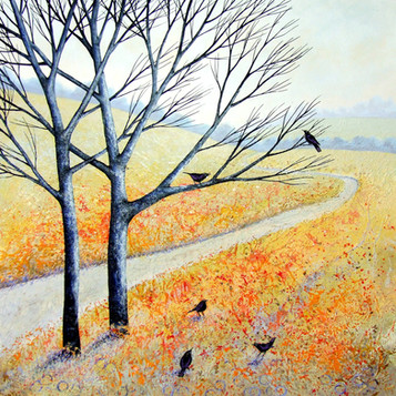 Five Blackbirds ©Deborah Burrow