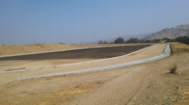 Current status of the new track and field stadium